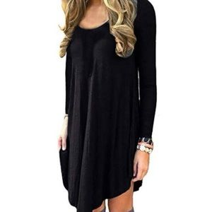 Women's Long Sleeve Casual Fit Loose Top/Dress